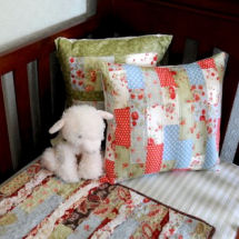 Vintage baby girl nursery in an historic home