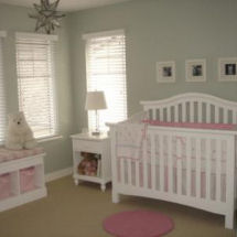 Pink and grey puppy dog theme baby girl nursery