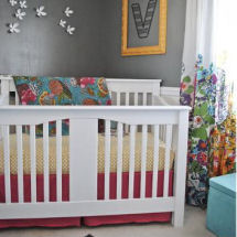 Original Gray, White and Yellow Baby Girl Nursery