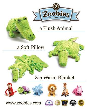 Zoobies Baby Croc Blanket Pet