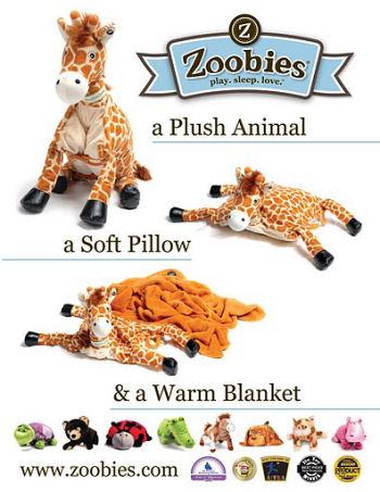 Zoobies Blanket Pets Baby Jafaru the Giraffe