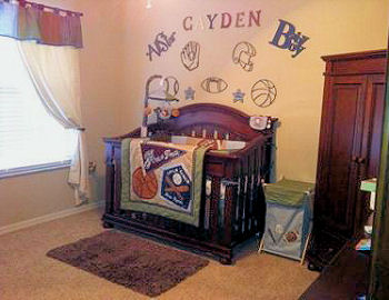 e27ba872 Sports Theme Nursery Ideas for a Baby Girl or Boy Nursery Design