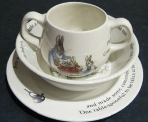 Beatrix Potter Peter Rabbit Baby Plate, Cup, Bowl and Dishes