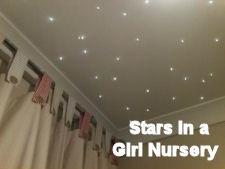 Fiber optic baby nursery ceiling lights twinkle like stars