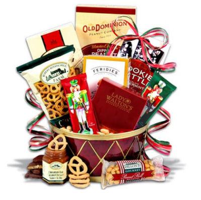 Nutcracker Drum™ Christmas Gift Basket.