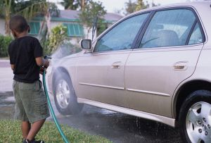 Don't play in the water or wash your car during a heat wave!