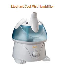 Baby Blue and White Elephant Nursery Humidifier