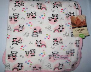 Carters fleece panda baby receiving blanket