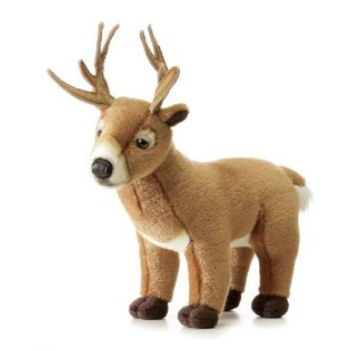 Small plush, stuffed whitetail deer toy for a baby's nursery