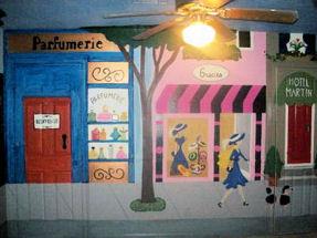French baby nursery Paris style wall decor for a baby girl's Parisian nursery theme
