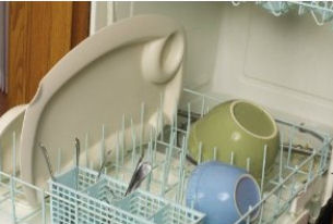 The easy clean Graco Contempo high chair tray insert is dishwasher safe
