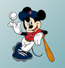 mickey mouse baseball wall decal sticker