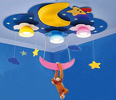 Monkey Nursery Chandelier ceiling light