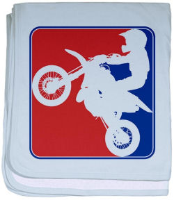 Personalized baby motocross dirt bike baby blanket