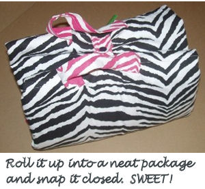custom black and white ruffled zebra print nap mat for my little diva girl