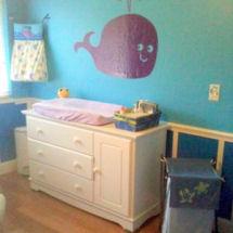 Ocean theme baby girl purple whale beach theme