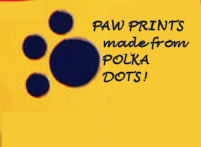 How to make your own puppy dog paw prints from polka dot decals