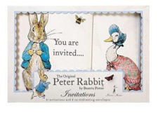 Beatrix Potter Peter Rabbit baby shower invitations and decorations