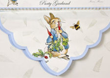 Beatrix Potter Peter Rabbit baby shower invitations and party decorations