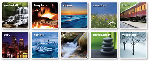 A full selection of white noises and sounds that create a peaceful and natural sleep environment.