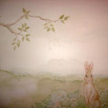 Vintage Beatrix Potter Peter Rabbit baby girl nursery wall mural