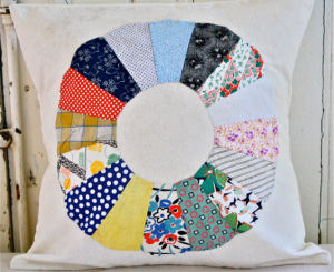Large vintage heirloom quilt pillow