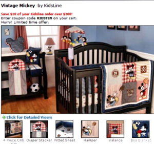mickey mouse sports theme baby crib nursery bedding set
