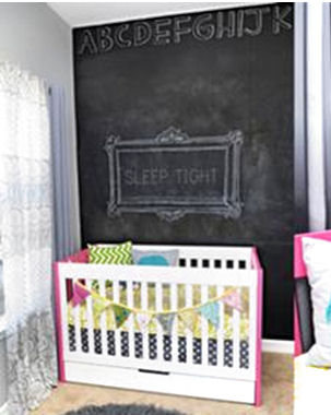 chalkboard wall paint painting technique black alphabet bulletin board baby nursery large