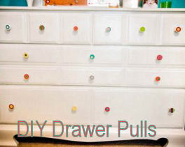 Colorful DIY baby dresser drawer pulls