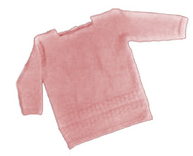 Free baby knitting pattern pullover sweater knit sweater with pearl button closures in pink for a girl