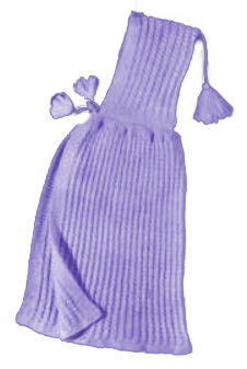 Free knitted baby poncho knitting pattern to knit with tassel tie closures.