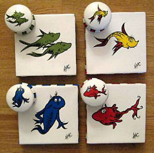 One Fish Two Fish Red Fish Blue Fish Knick Knacks Crafts Gifts