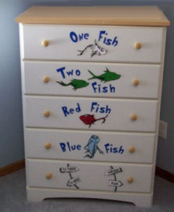 One Fish Two Fish Red Fish Blue Fish by dr seuss crafts
