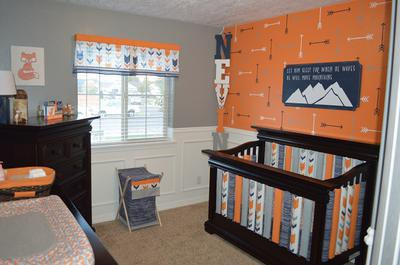 An Accent Wall and Crib