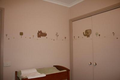 Baby's Safari Nursery with Decal Wall Decorations