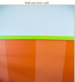 orange stripes wall nursery painting technique lime green baby blue