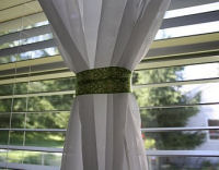 lime green and white damask sheer baby nursery curtains panels