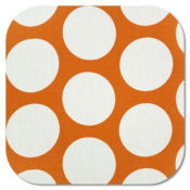 orange and white polka dot dots nursery baby fabric