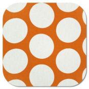 orange and white polka dot dots nursery baby fabric