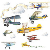 Airplane baby nursery wall stickers and decals
