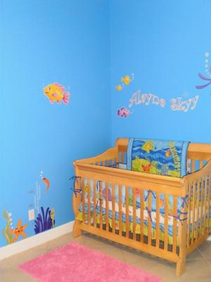 Baby Girl's Underwater Nursery