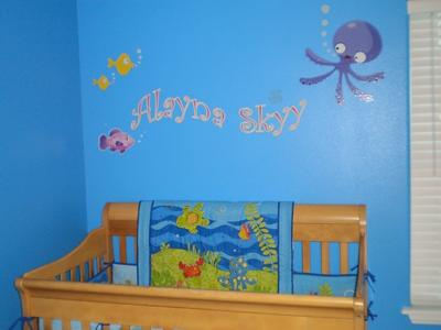 Underwater Nursery Wall Mural
