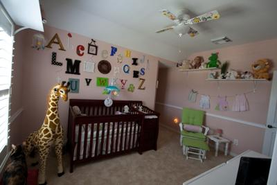 Fresh Air Alphabet Baby Nursery Wall Arrangement for an ABC Theme Room