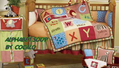 Alphabet Baby Nursery Bedding And