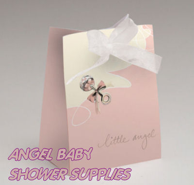 angel baby shower favors decorations tableware bags banners
