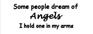 Baby angel newborn nursery wall quote angel saying decals and stickers