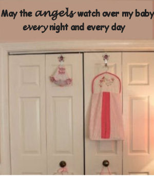 Vinyl baby angel nursery wall quote decals and sayings