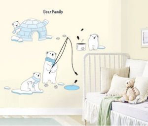 Large arctic polar bears baby nursery wall stickers and decals