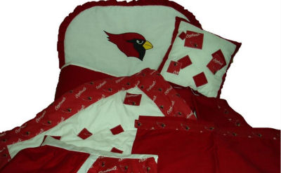 Custom Made Fabric Arizona Cardinals Baseball Baby Nursery Crib Bedding Quilt Decorations and Decor