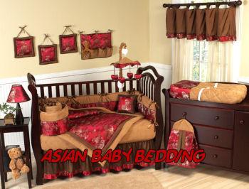 asian baby nursery crib bedding set theme design oriental